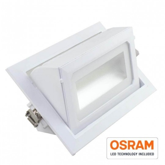 LED spotlight 36W orientable rectangular 120º EuroStarLed