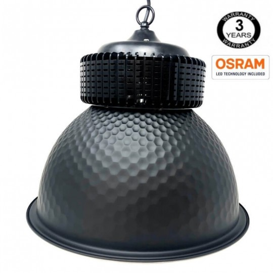 Campana  industrial LED PRO Black  100W chip OSRAM  SMD 3030 -2D