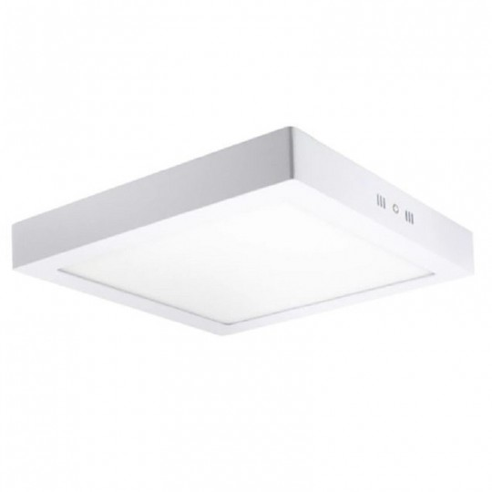Plafón LED Superficie cuadrado blanco 20W 120º -IP20 - interior
